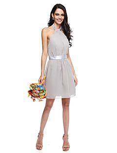 2017 Lanting bride® krátké / mini šifonu mini me družička šaty - ohlávku s křídlem
