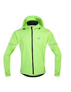 SANTIC Cyklo bunda Pánské Dlouhé rukávy Jezdit na kole Voděodolný Větruvzdorné Pláštěnka Větrovky Dres Vrchní část oděvu 100% polyester