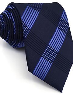 Masculino Gravata Azul,Vintage Fofo Festa Trabalho Casual Geométrica Raiom Todas as Estações