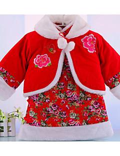 Pige Indstiller Formelle Ensfarvet,Bomuld Vinter Tøjsæt