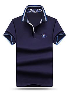 メンズ カジュアル/普段着 ビーチ お出かけ 春 夏 Polo,シンプル 活発的 シャツカラー ソリッド コットン モーダル 半袖