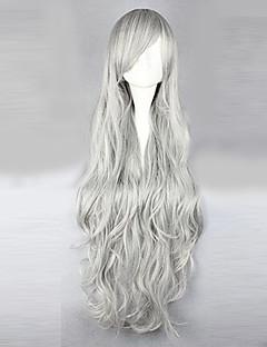 Cosplay Wigs Natsume Yuujinchou Cosplay Silver Long Anime Cosplay Wigs 95 CM Male / Female