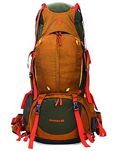 80 L Mochila para Excursão Alpinismo Viajar Acampar e CaminharProva-de-Água Á Prova-de-Chuva Zíper á Prova-de-Água Vestível Resistente ao