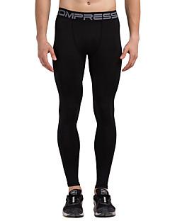 Vansydical® Herr Löpning Leggings Underdelar Snabb tork Vår Sommar Löpning Terylen Ledig Friluftskläder Svart Klassisk