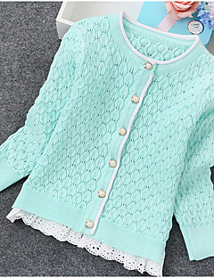 Casual/Daily Solid Sweater & Cardigan,Cashmere Spring Long Sleeve Regular