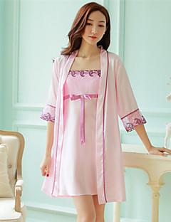 Feminino Pijama Seda Feminino