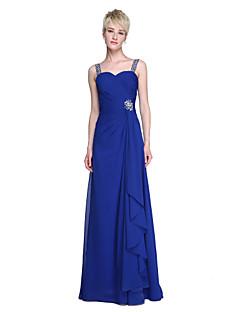 LAN TING BRIDE Na zem Popruhy Šaty pro družičky - Elegantní Bez rukávů Šifón