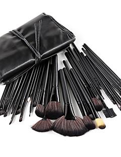 Набор профессиональных кистей для макияжа, 32 шт., с черными ручками