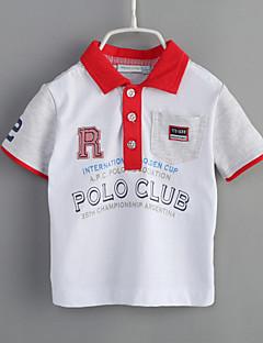 Baby Fritid/hverdag T-skjorte Geometrisk-Bomull-Sommer-