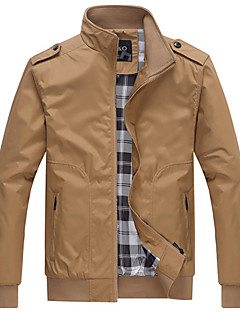 Going out Casual/Daily Simple Active JacketSolid Stand Long Sleeve Spring Fall Machine wash Acrylic Polyester Regular 916590