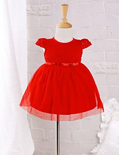 Baby Casual/Daily Solid Dress Cotton Nylon Summer Dress