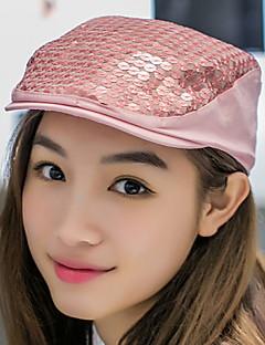 Women Summer Fashion Sequin Sunscreen Sun Hip Hop Berets Baseball Cap