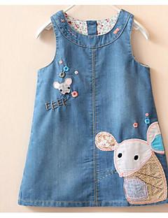 女の子の ビーチ ゼブラプリント コットン ドレス 夏 半袖