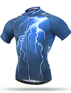 XINTOWN® Γυναικεία Ανδρικά Γιούνισεξ Κοντομάνικο Ποδήλατο Αναπνέει Γρήγορο Στέγνωμα Anti Transpirație Άνετο Πίσω τσέπη Μπολύζες Τερυλίνη