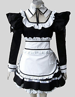 Outfits Gothic Lolita Rococo Cosplay Lolita Dress Solid Puff/Balloon Long Sleeve Long Length Dress Apron Petticoat For Cotton