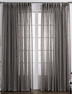 Ein Panel Window Treatment Rustikal , Solide Schlafzimmer Stoff Gardinen Shades Haus Dekoration For Fenster