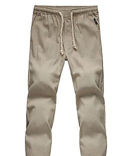 Men's Mid Rise Micro-elastic Chinos Pants,Vintage Chinoiserie Straight Solid