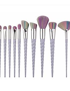 10 Oogschaduwkwast Concealerkwast Waaierkwast Poederkwast Foundationkwast Contour Brush Brush Sets Blushkwast Synthetisch haarDraagbaar