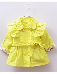 Mädchen Trenchcoat Lässig/Alltäglich einfarbig Baumwolle Frühling Lange Ärmel