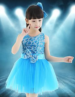Мы будем балетной танцевальной одеждой для детей, сплайсирующей 1 часть латинского танцевального платья