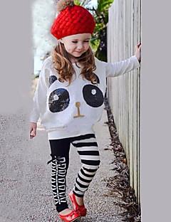 Mädchen Kleidungs Set Gestreift Baumwollmischung Ganzjährig