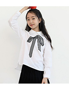 Girl Casual/Daily Solid Shirt,Cotton Summer Spring Fall Long Sleeve