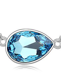 Pentru femei Coliere cu Pandativ Cristal Design Unic La modă Personalizat Euramerican Alb Albastru Închis Albastru Deschis Bijuterii