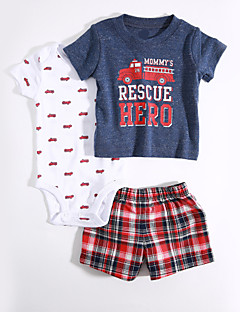 Baby Casual/Daily Geometric Clothing Set,Stripes Summer