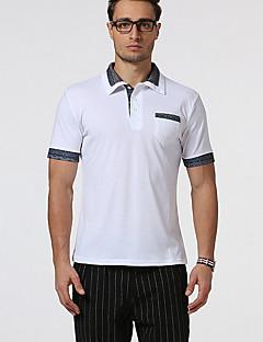 男性用 半袖 ポロシャツ,コットン カジュアル / スポーツ プリント