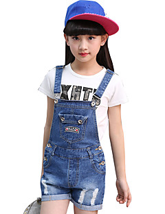 Girls' Casual/Daily Embroidered Overall & Jumpsuit-Cotton Summer All Seasons