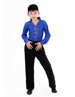 Czy chodzimy na latynoskie stroje taneczne dla dzieci dziecięce polerowane polerowane plisowane polka dots 2 szt. Taniec kostiumowy