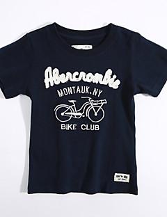 Camiseta Casual Geométrica Verão Algodão Manga Curta