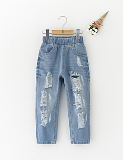 Girls' Casual/Daily Solid Jeans Summer Spring Fall