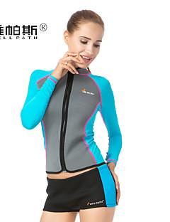 Dive & Sail® Mulheres 1mm Roupas de mergulho Mergulho Skins Impermeável Resistente Raios Ultravioleta Filtro Solar NeopreneFato de