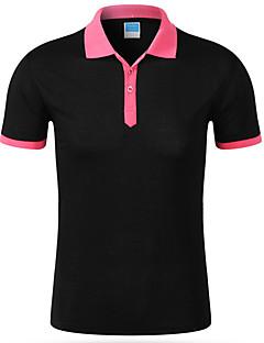 メンズ お出かけ ワーク 春 夏 Tシャツ,シンプル 活発的 シャツカラー カラーブロック コットン ポリエステル 半袖 ミディアム