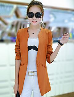 Feminino Terno Casual Simples Primavera Outono,Poá Listrado Padrão Algodão Colarinho de Camisa Manga Longa
