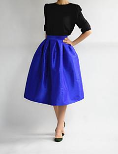 All Seasons חצאיות Midi ליציאה אחיד גיזרה גבוהה גזרת A נשים