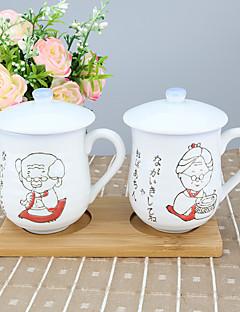 Tegneserie Glas og Krus, 210 ml Boyfriend gave kæreste gave Porcelain Teak Nøgen Hverdags Drikkeredskaber Kop Dække