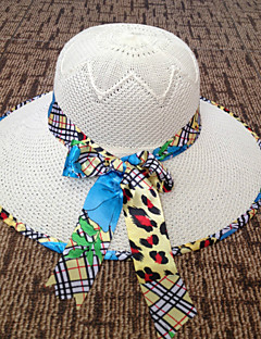 Women's   Solid   Big Floral  Polyester Casual  Cute Straw Hat