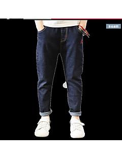 Drenge Jeans I-byen-tøj Ensfarvet-Bomuld Forår