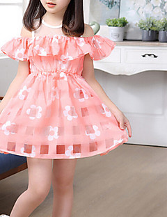 Girl's Casual/Daily Floral Dress,Polyester Summer Short Sleeve
