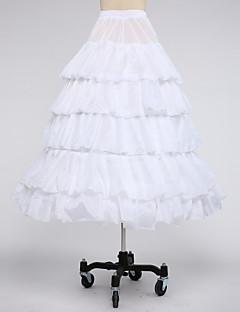 Комбинации Комбинации с пышной юбкой Ниже колена 5 Тафта Белый Черный Красный