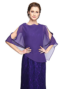 Women's Wrap Capelets Chiffon Wedding