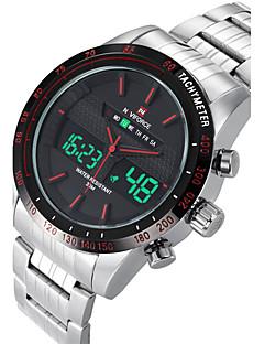 NAVIFORCE Herren Sportuhr Modeuhr Armbanduhr Armbanduhren für den Alltag Quartz digital Kalender Duale Zeitzonen Edelstahl BandCool
