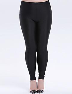 Dame Ensfarvet Tynd Ensfarvet Legging Polyester Denne type er nøjagtig i størrelsen,