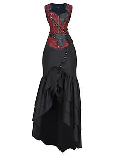 여성 코르셋 드레스 잠옷,섹시 푸시 업 Kontor/företag 자카드 면