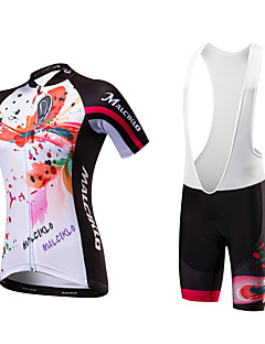 Camisa com Bermuda Bretelle Mulheres Manga Curta Moto Tights Bib Camisa/Roupas Para EsporteSecagem Rápida Design Anatômico Resistente