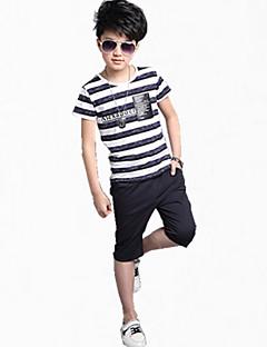Dječaci Pamuk Prugasti uzorak Ležerno/za svaki dan Ljeto Sva doba Proljeće Kratkih rukava Setovi Komplet odjeće