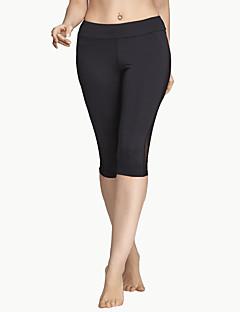 Mulheres Calça 3/4 de Corrida Respirável Macio Confortável Calças para Ioga Exercício e Atividade Física Corrida Poliéster Grade Apertado