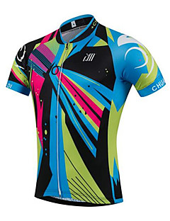 Cycling Jersey Unisex Short Sleeve Bike Jersey Quick Dry Ultraviolet Resistant Breathable Lightweight Materials Comfortable 100% Polyester